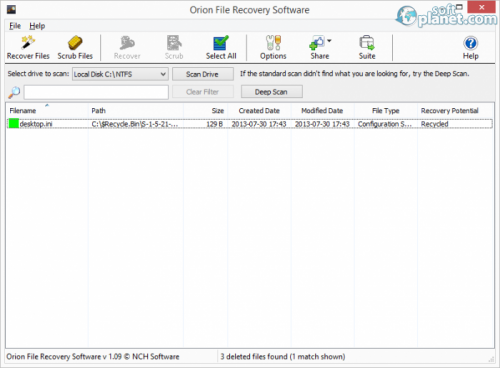 Orion File Recovery Software 1.11