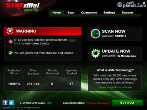 STOPzilla Antivirus 6.1.40.147