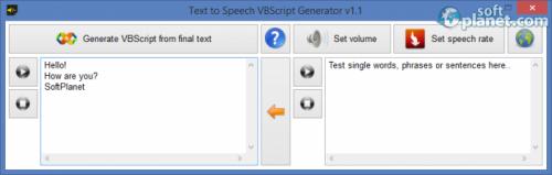 Text to Speech VBScript Generator 1.1