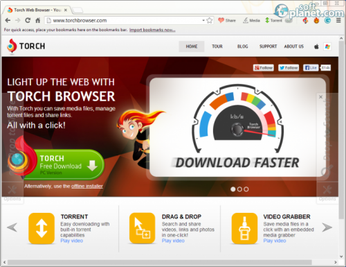 Torch Browser 39.0.0.9309