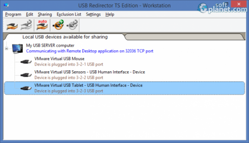 USB Redirector TS Edition 2.1.1.2460