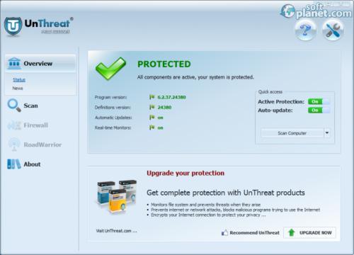 UnThreat AntiVirus Free Edition 6.2