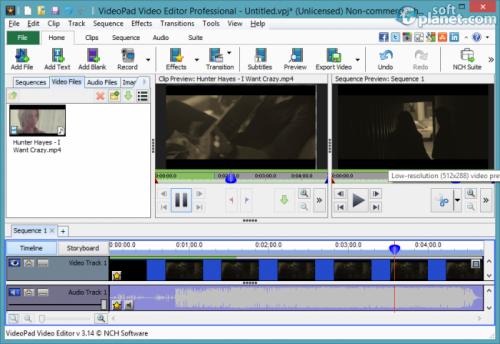 VideoPad Video Editor 4.00