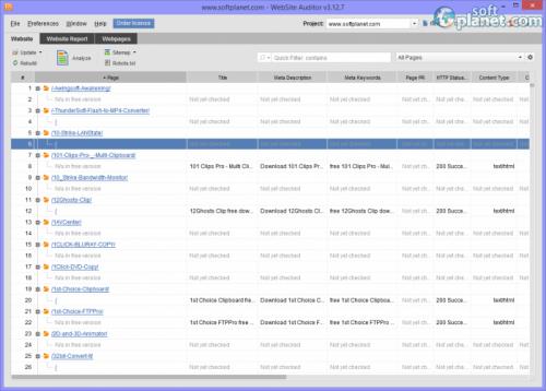 WebSite Auditor 3.12.7