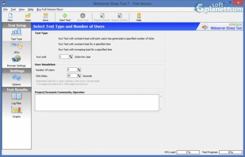 Webserver Stress Tool 7.3.0.2295