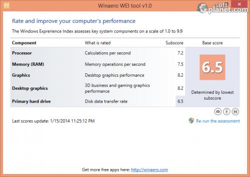 WinAero WEI Tool 1.0