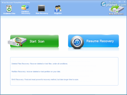 Wise Recover Formatted Drive 2.8.8