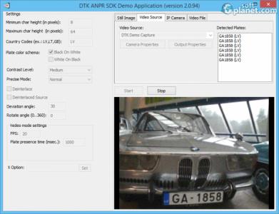DTK ANPR SDK Screenshot2