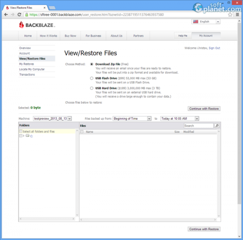 BackBlaze Screenshot3