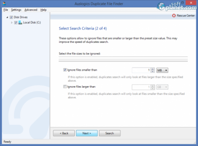 Auslogics Duplicate File Finder Screenshot2