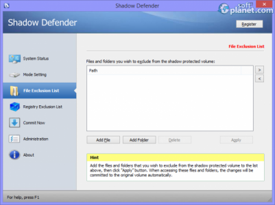 Shadow Defender Screenshot3