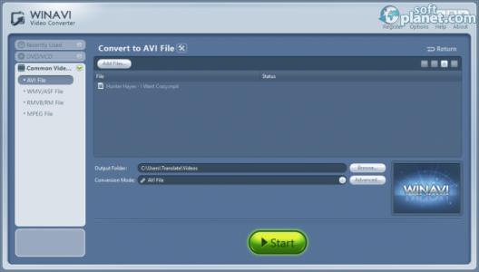 WinAVI Video Converter Screenshot2
