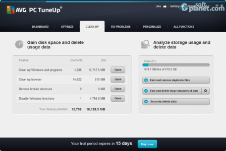 AVG PC Tuneup Screenshot3