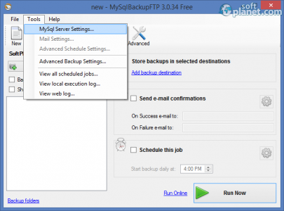 MySql Backup FTP Screenshot2