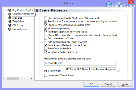 Zortam Mp3 Media Studio PORTABLE Screenshot3