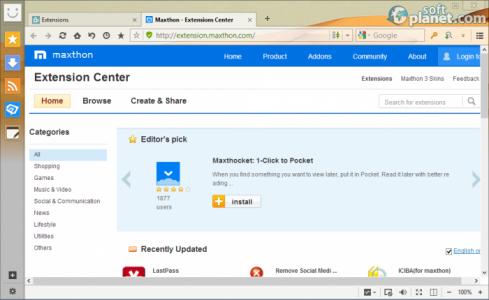 Maxthon Cloud Browser Screenshot3