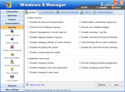 Windows 8 Manager Screenshot5