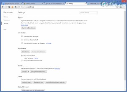 BlackHawk Web Browser Screenshot2
