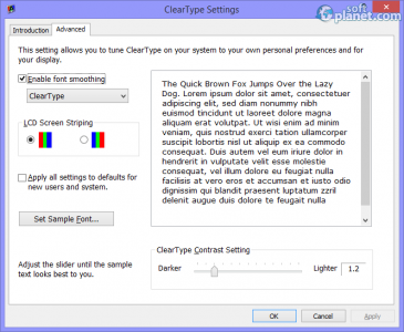 ClearType Tuner PowerToy Screenshot2
