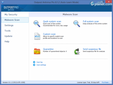 Agnitum Outpost Antivirus Pro Screenshot2