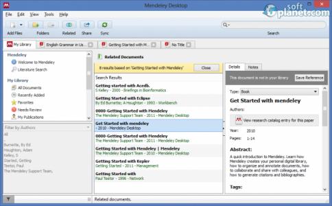 Mendeley Desktop Screenshot3