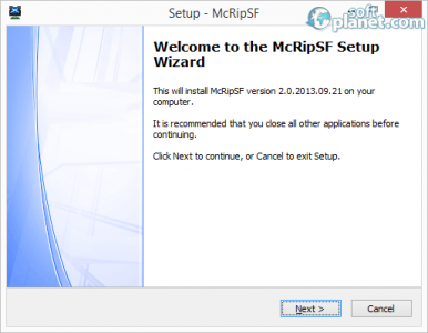 McRip SystemFiles Screenshot2