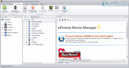 eXtreme Movie Manager 8.2.6.0