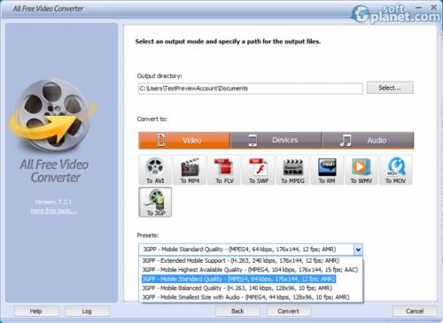 All Free Video Converter Screenshot3