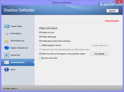 Shadow Defender Screenshot4