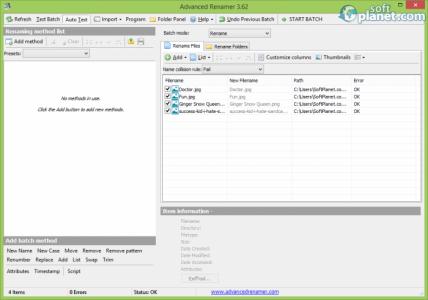 Advanced Renamer Screenshot2