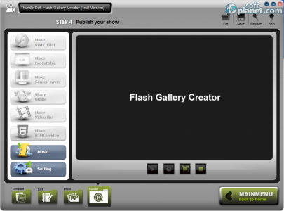 ThunderSoft Flash Gallery Creator Screenshot3
