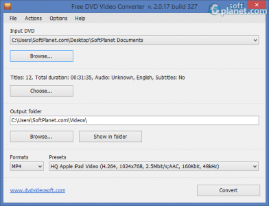 Free DVD Video Converter Screenshot2