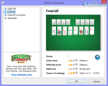 Free FreeCell Solitaire 2012 Screenshot3