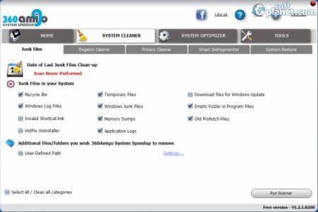 360Amigo System Speedup Free Screenshot2