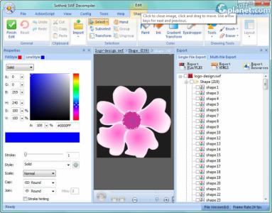 Sothink SWF Decompiler Screenshot2