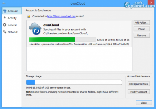 ownCloud 1.8.0.4847